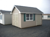 10x14 Vinyl Cape Cod Storage Shed