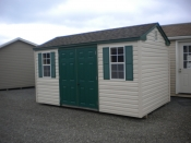 8x14 Side Entry Peak Storage Shed