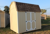 8x10 Madison Dutch Barn with Beige walls, White trim, and Shakewood shingles