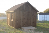10X12 Cape Cod Shed with Charcoal walls, Charcoal trim, and Barkwood shingles