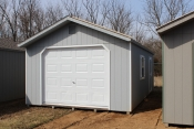 14X24 Peak Garage with Lt. grey walls, white trim, and Oyser roof