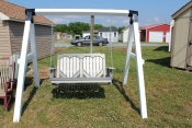 Pine Creek Amish Furniture 4' Poly Swing in White and Light Gray