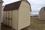 8x10 Madison Dutch Barn with Beige walls, Buckskin trim, and Barkwood shingles