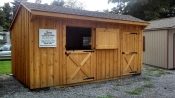10'x18' Shed Row Horse Barn