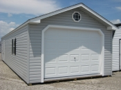14x40 Vinyl Peak Garage Shed in Hanover, PA Pine Creek Structures