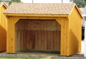 10ft x 12ft Wood Run In Shed in Hanover, PA Pine Creek Structures