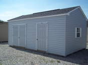 12x20 Vinyl Peak Storage Shed with Space Saver/Workshop Package