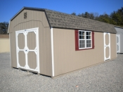 12x24 Front Entry Dutch Barn storage shed available at Pine Creek Structures