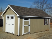 10x20 New England Style Cape Cod Storage Shed