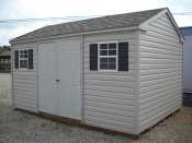 10X14 Vinyl Side Entry Peak Storage Shed