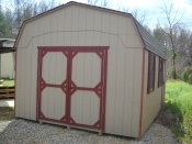 12X20 Dutch Storage Shed with Organizer Shelving Package inside!