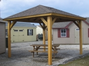 12ft x 12ft Wood Pavilion in Hanover, PA Pine Creek Structures