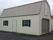 14x28 Two Story Vinyl siding Garage with metal roof