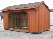10ft x 16ft Wood Run-In Shed in Hanover, PA Pine Creek Structures