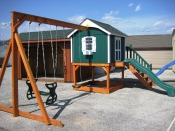 Wood Stained Sailor's Retreat Swing Set in Hanover, PA Pine Creek Structures