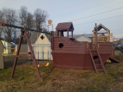 Pine Creek Custom Pressure Treated Kids Playset