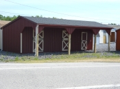LEAN-TO HORSE BARN