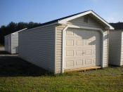 12x24 Vinyl Peak One-Car Garage