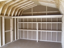 Inside this 12x20 Dutch Style Shed(Includes 2 Shelves and a 4' Loft!)
