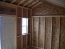 10x14 Vinyl Cottage Storage Shed inside view.