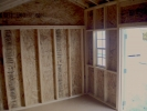 10x14 Vinyl Cottage Storage Shed inside view