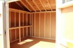Pine Creek 10X14 Cottage inside view of shelves