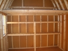 Comes with a loft and 2 shelves for organization and maximizing your space.