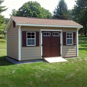 Cottage & Hip style storage sheds from from Pine Creek Structures