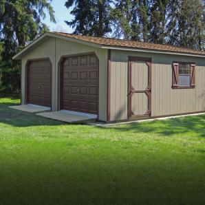 2-Car Modular Garages from Pine Creek Structures
