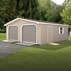 Two-Car Modular Garages from Pine Creek Structures