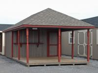 12 x 24 Cabana with Hip Style Roof 41144   - Pine Creek Structures of Mill Hall