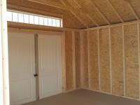 12x20 Victorian Deluxe Inside View of Double Doors with Transom Windows
