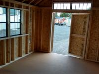 Interior 10x16 Cape Cod Shed with Porch
