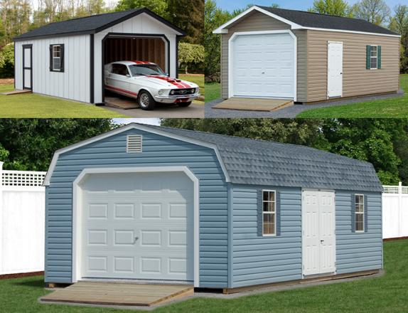 Custom Order a One-Car Garage from Pine Creek Structures of Elizabethtown