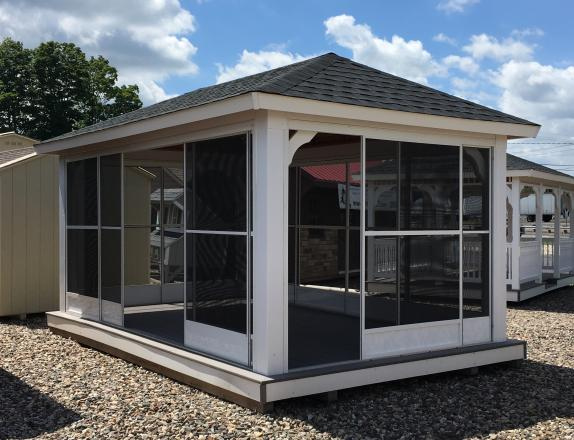 10x16 Pavilion with Screens by Pine Creek Structures