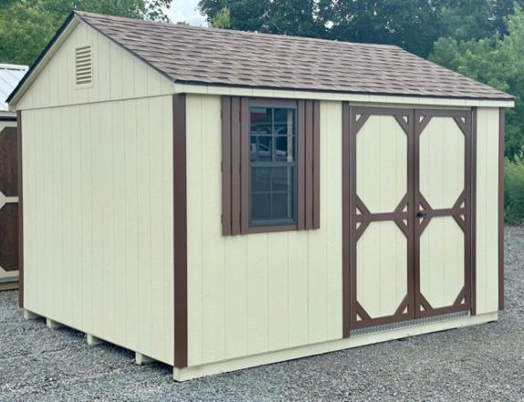 10 x 12 Peak Style Shed Side Entry