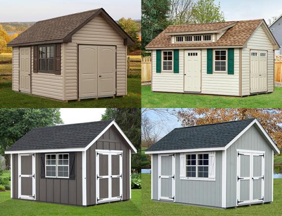 Custom Order a Cape Cod style storage shed from Pine Creek Structures of Egg Harbor