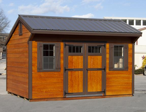 10x14 Cottage style storage shed with shiplap siding for sale at Pine Creek Structures