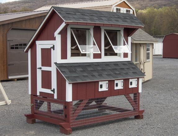 4x6 Mini Chicken Condo crafted at Pine Creek Structures of Spring Glen