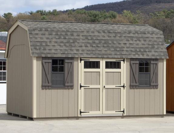 10x16 New England Style Dutch Barn Storage Shed from Pine Creek Structures