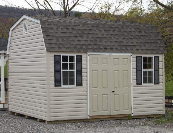 10x14 Gambrel Barn Style Storage Shed with Vinyl Siding