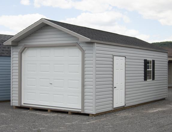 12x24 Peak Garage with Vinyl Siding for sale at Pine Creek Structures