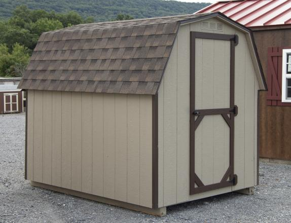 6x8 Economy Build Mini Barn Storage Shed from Pine Creek Structures of Spring Glen