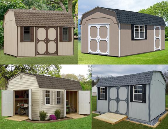 Custom Order a dutch barn style storage shed from Pine Creek Structures of Egg Harbor