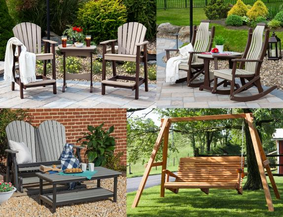 Poly and Wood Patio Furniture available at Pine Creek Structures of Monroeville, PA