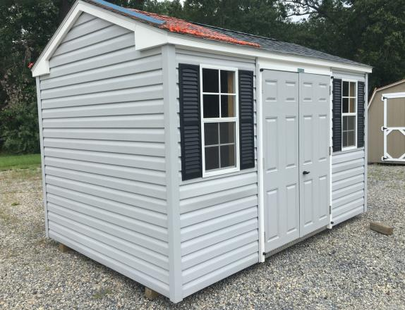 8x12 Peak (A Frame Style) Storage Shed with Vinyl Siding