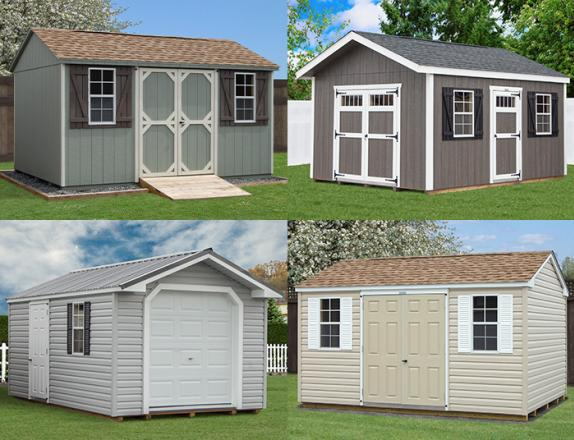 Custom Order a peak style storage shed from Pine Creek Structures of Elizabethtown