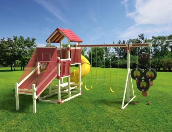 31'X20' Double Tower RL-3 Sports Tower Playset from Swing Kingdom