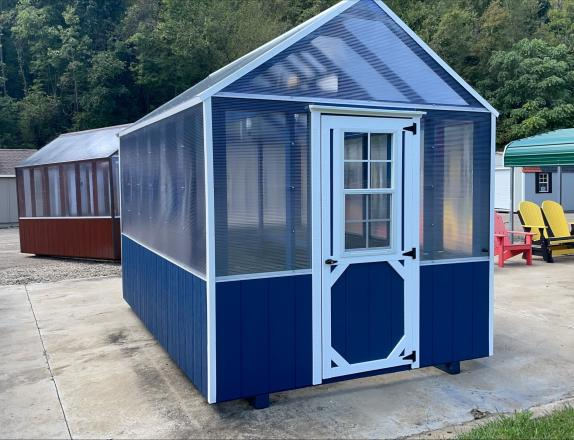 8x12 Greenhouse with Electric Heater and Roof Vent
