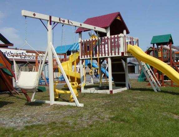 The Wave Rider Vinyl Play Set available at Pine Creek Structures of Harrisburg, PA